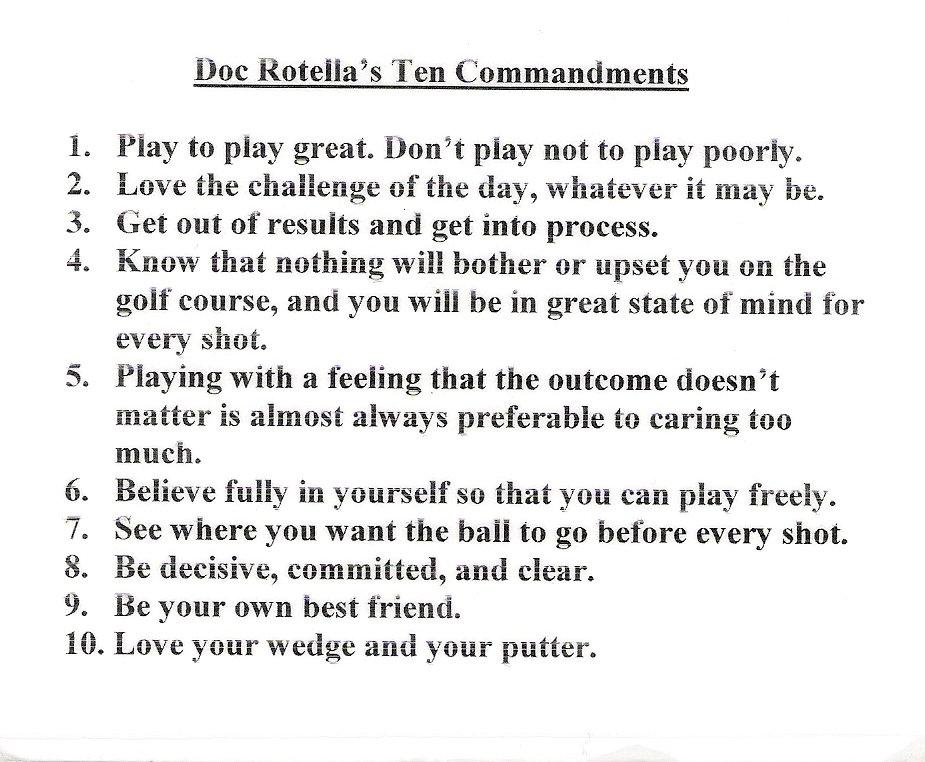 Bob rotella 10 rules of dating 3