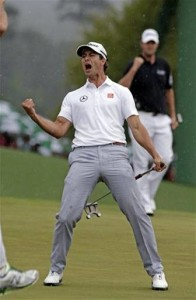 Adam Scott 18th 2013 Masters
