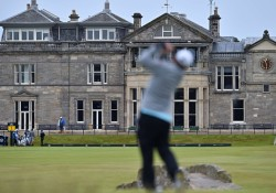 The St Andrews Clubhouse is pictured dur