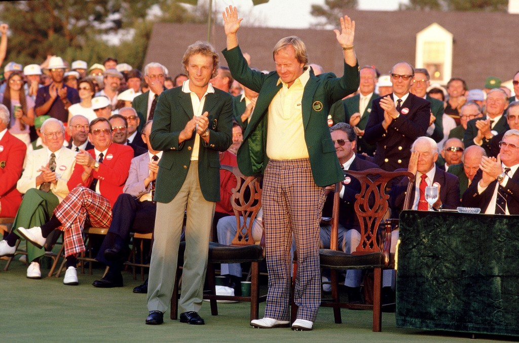 Jack Nicklaus of the USA and Bernhard Langer of Germany