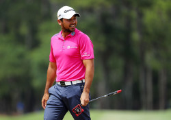 PONTE VEDRA BEACH, FL - MAY 15:  Jason Day of Australia reacts on the second green during the final round of THE PLAYERS Championship at the Stadium course at TPC Sawgrass on May 15, 2016 in Ponte Vedra Beach, Florida.  (Photo by Richard Heathcote/Getty Images)